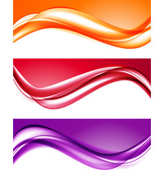 Abstract light colorful backgrounds set vector