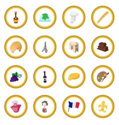 France cartoon icon circle vector