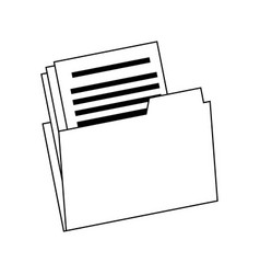 Folder file document paper office archive vector