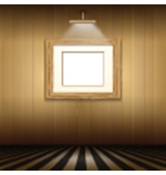 Interior with blank picture frame vector