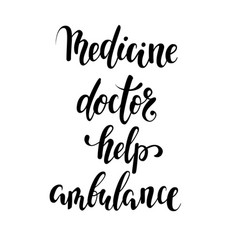 Medicine doctor help ambulance hand drawn vector