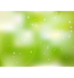 Natural water drops on glass plus eps10 vector