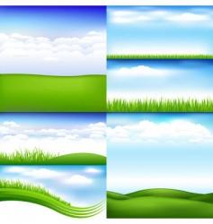 Landscapes vector