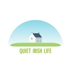 Traditional Irish House vector image