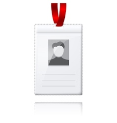 Blank vertical badge holder with place for vector