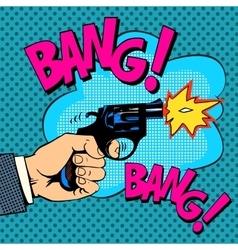 The gunshots gangster murder vector image