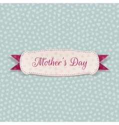 Mothers day white festive label vector
