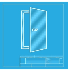 Door sign  white section of icon on vector
