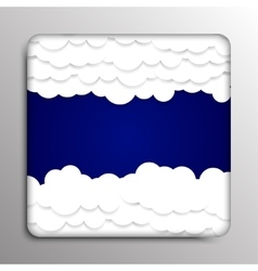 Square frame clouds on a dark blue background vector