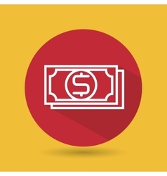 Symbol of bills red isolated icon design vector