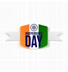 Indian independence day label with shadow vector