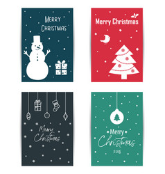 a set of colored christmas cards vector image