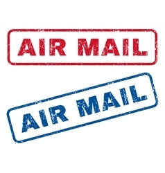 Air mail rubber stamps vector