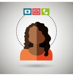 Avatar email telephone camera vector