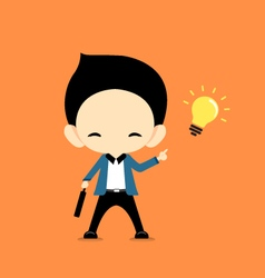 Business man get idea vector image