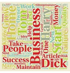 Can any tom dick and harry start a home business vector