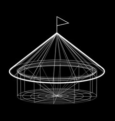 Circus tent in wireframe form vector