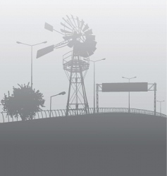 city smog or fog vector image