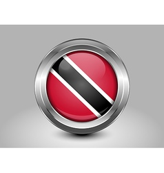 Flag of trinidad and tobago metal round icon vector