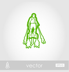 Flyboard outline icon summer vacation vector