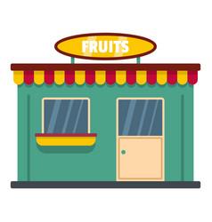 fruit shop icon flat style vector image