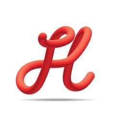 H letter red blending color design template vector