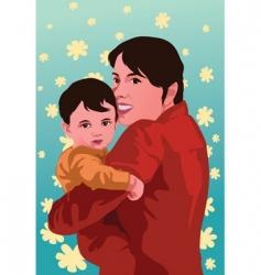 hug vector image