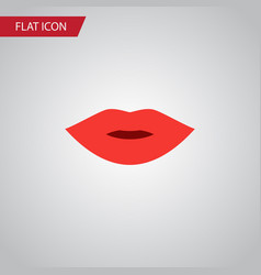 Isolated lips flat icon pomade element can vector