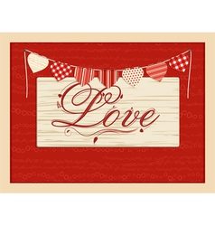 Love script background vector image