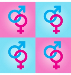 male female symbols vector image vector image
