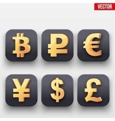 Money icon symbol of gold dollar vector