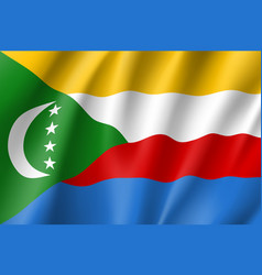 national flag of comoros vector image vector image