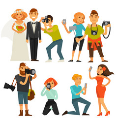 photography and photographers at travel wedding vector image vector image