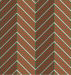 Retro fold red dotted chevron vector