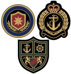 sail anchor emblem badge vector image vector image