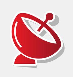 Satellite dish sign new year reddish icon vector