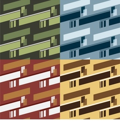 Set Of 4 Seamless Pattern vector image vector image
