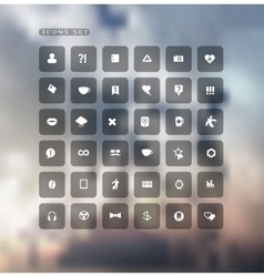 Set of web plat icons on blur vector image