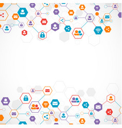 social media background network concept vector image