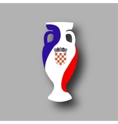 sport competition cup Croatia participant vector image vector image