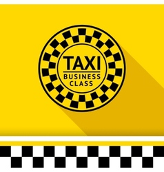 Taxi badge with shadow - 06 vector