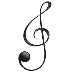 The G-clef symbol vector image vector image