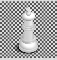 white king chess piece isometric vector image