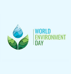 World environment day - waterdrop concept vector
