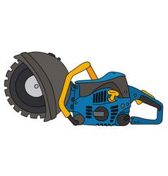 Blue circular saw vector