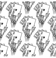 black jack and bones seamless pattern vector image