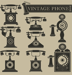 Vintage phone ii vector