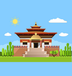 Temple of heaven icon isolated on white background vector