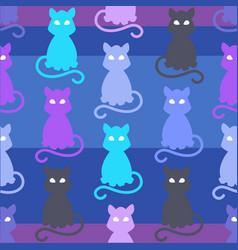 light pets seamless pattern vector image