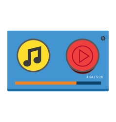 Music player 31 vector image